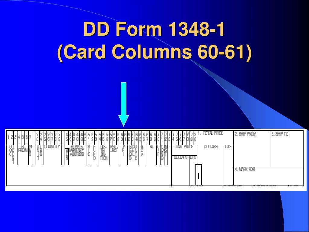 DD Form 1348-1