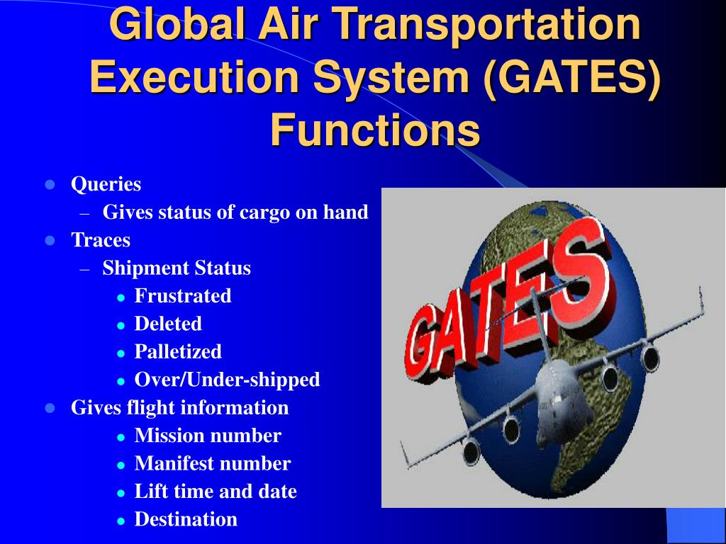 Global Air Transportation Execution System (GATES) Functions