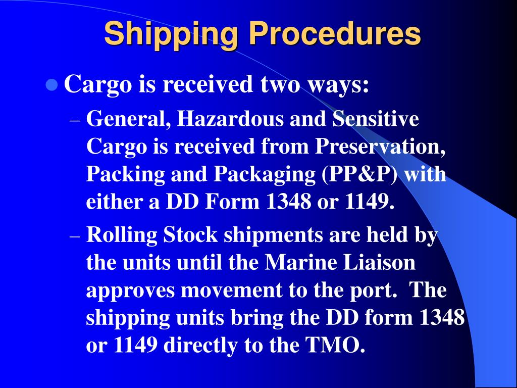 Shipping Procedures