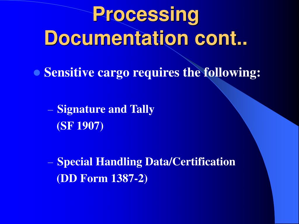 Processing Documentation cont..
