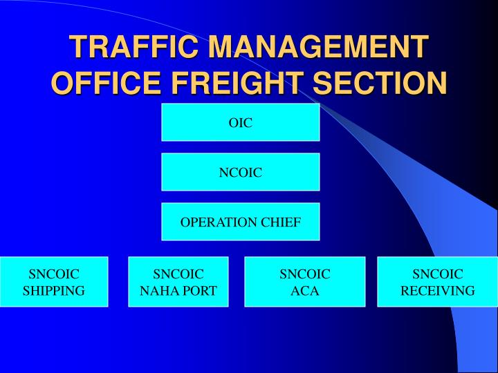 Traffic management office freight section