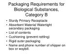 packaging requirements for biological substances category b