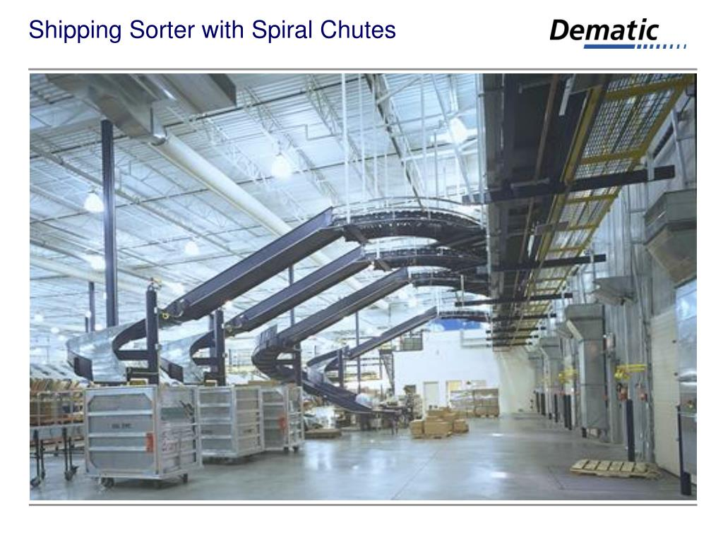Shipping Sorter with Spiral Chutes