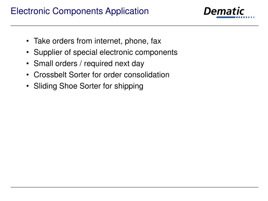 Electronic Components Application