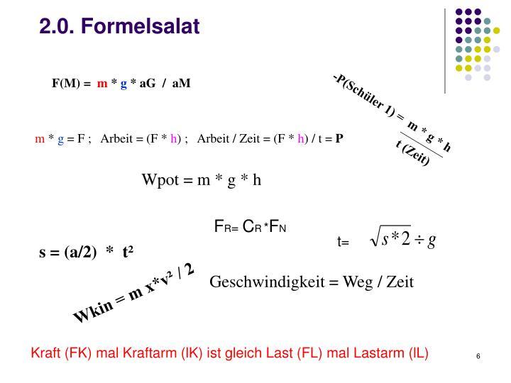 2.0. Formelsalat
