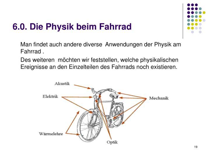 6.0. Die Physik beim Fahrrad