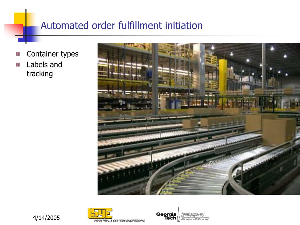 Automated order fulfillment initiation
