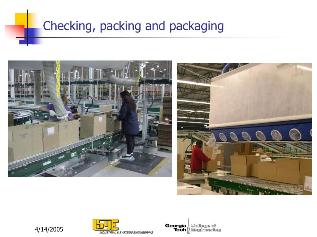 Checking, packing and packaging