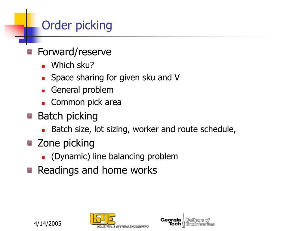 Order picking