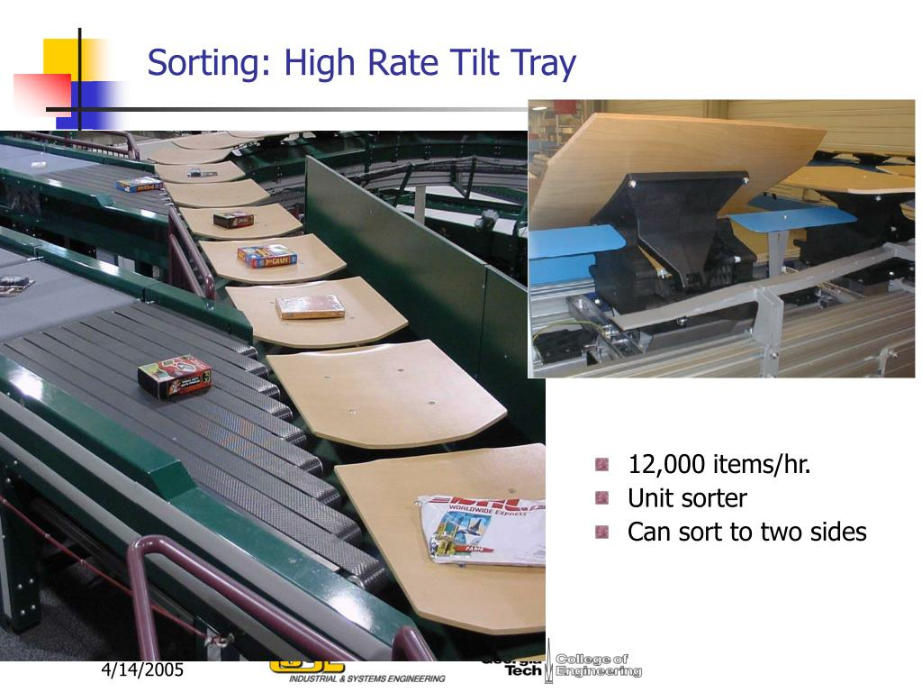 Sorting: High Rate Tilt Tray