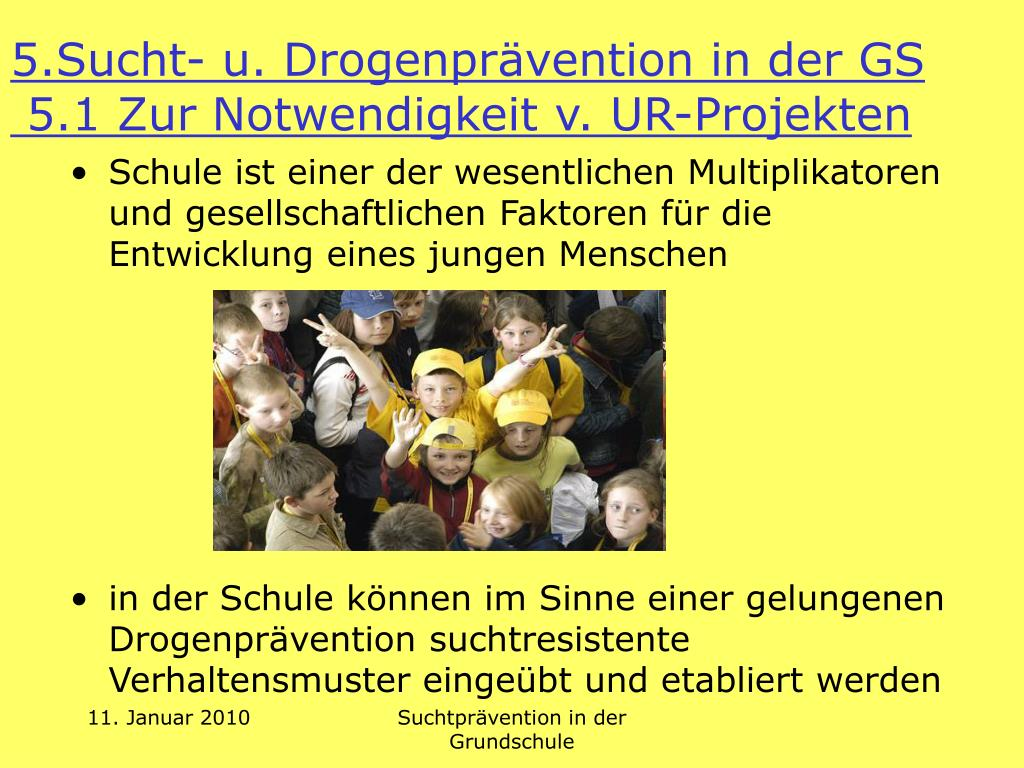 5.Sucht- u. Drogenprävention in der GS