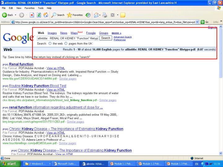 Advanced search results
