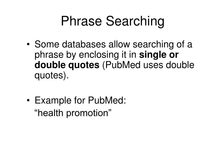 Phrase Searching