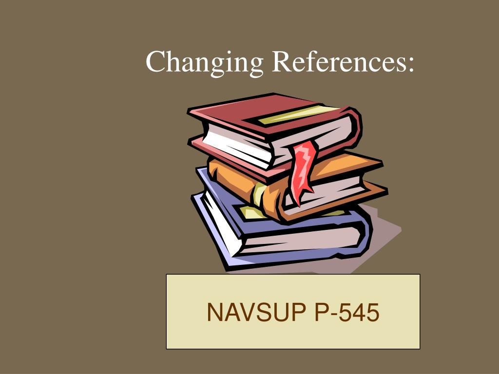 Changing References: