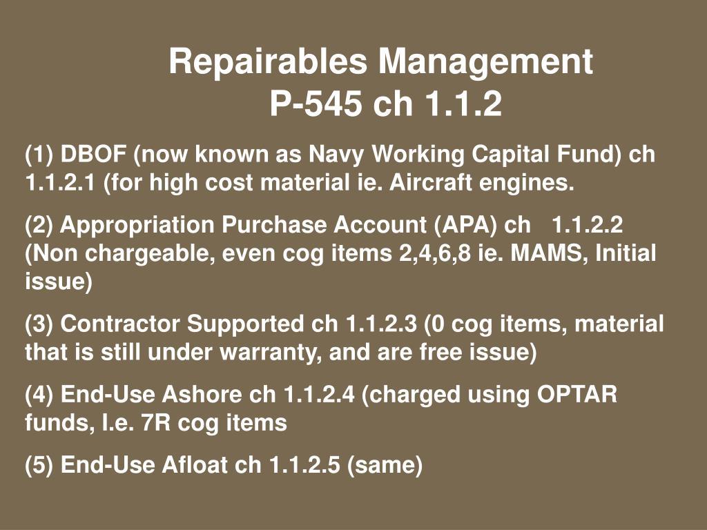 Repairables Management