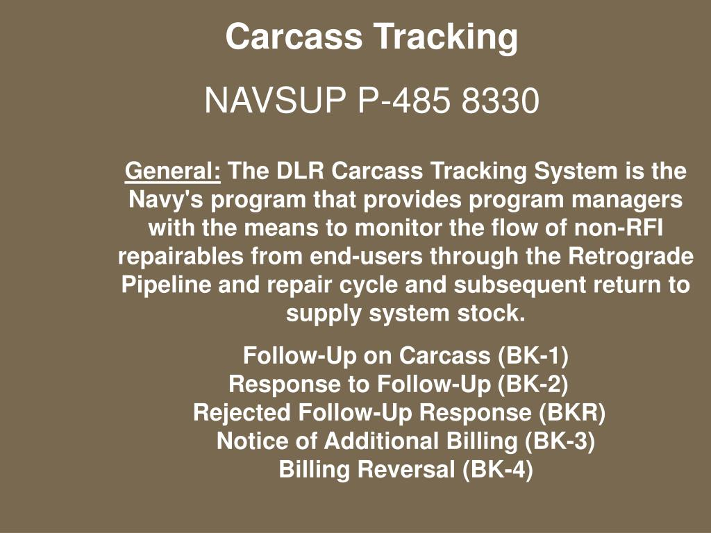 Carcass Tracking