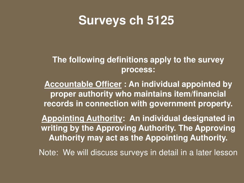 Surveys ch 5125
