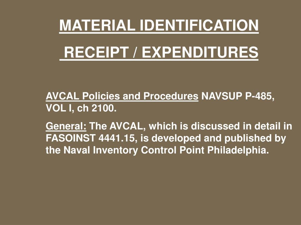 MATERIAL IDENTIFICATION