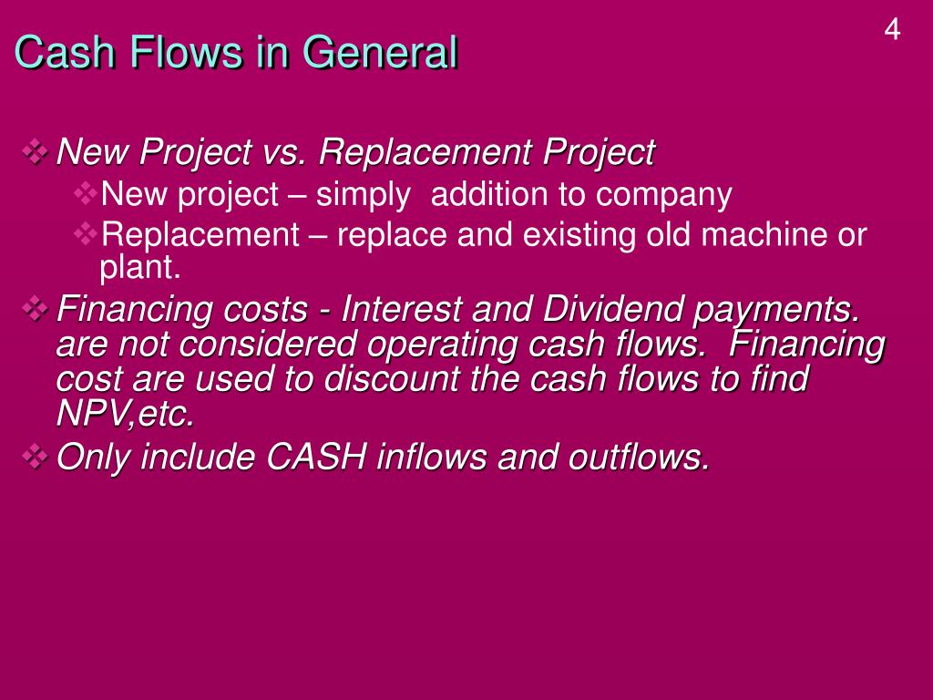 Cash Flows in General