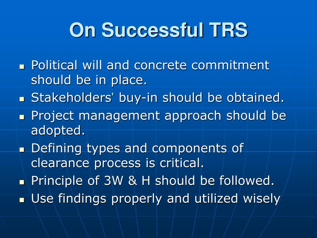 On Successful TRS