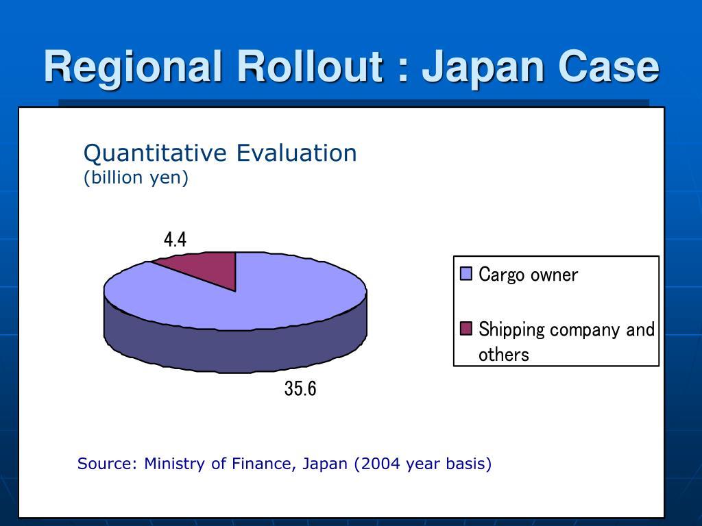 Regional Rollout : Japan Case