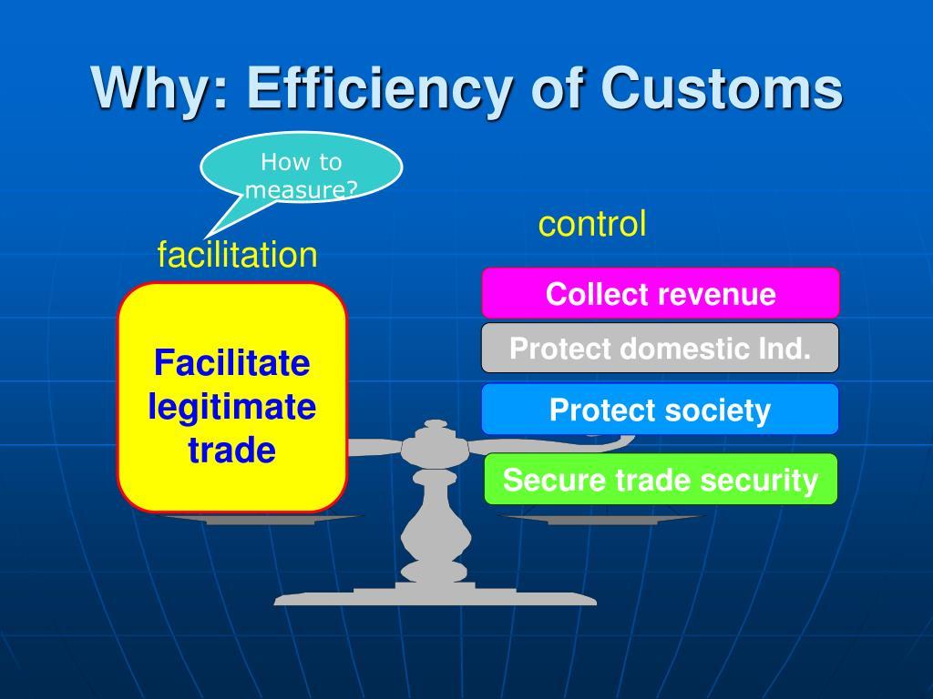 Why: Efficiency of Customs