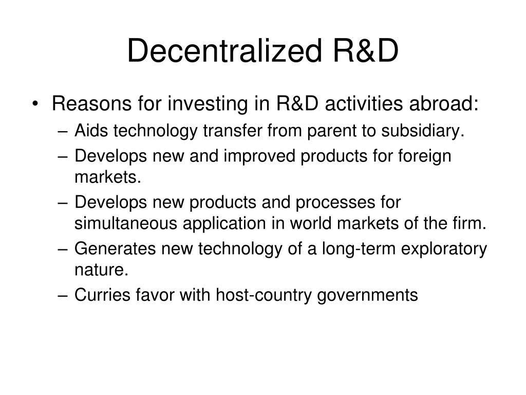 Decentralized R&D
