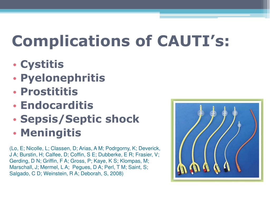 Complications of CAUTI's: