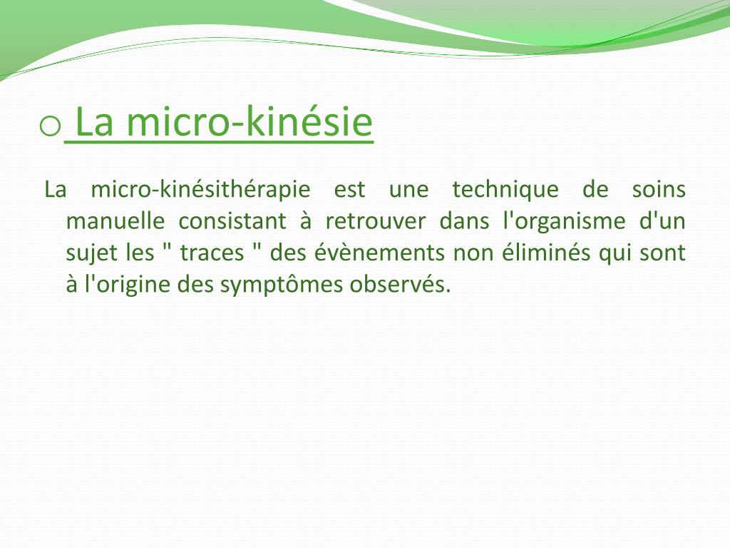 La micro-kinésie
