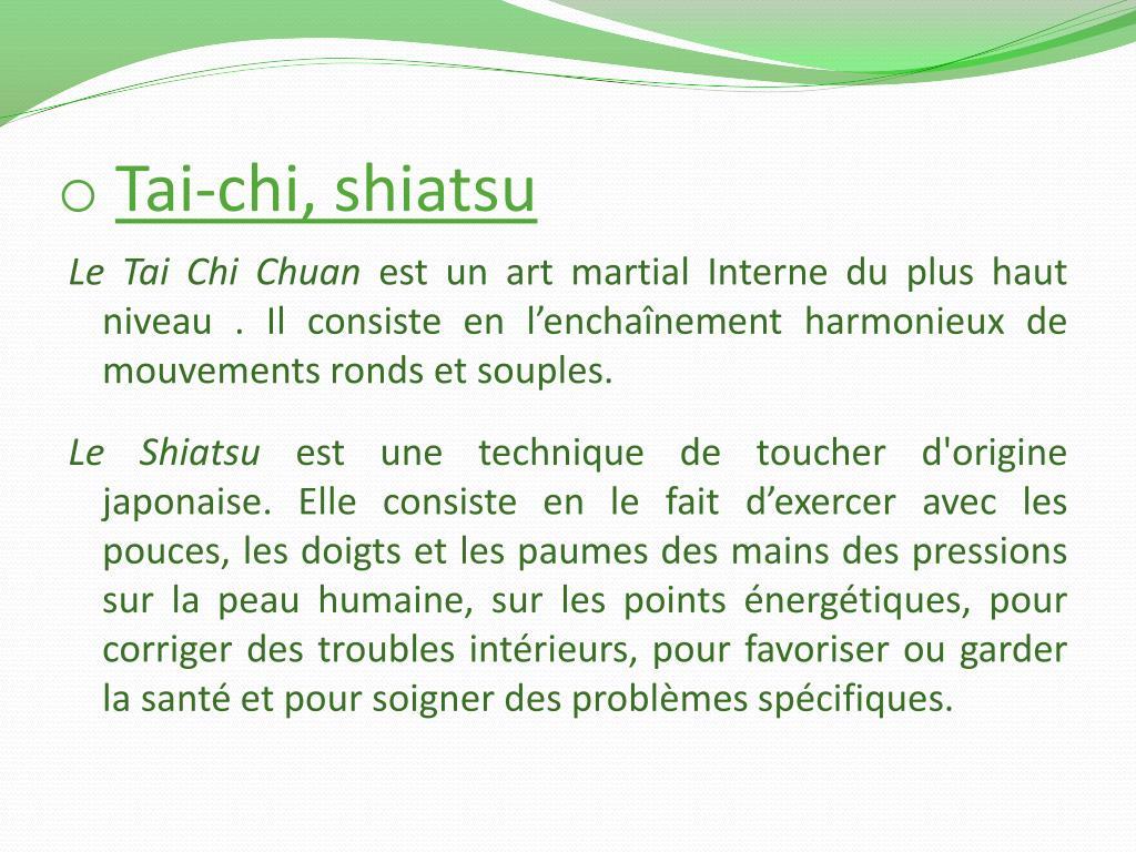 Tai-chi, shiatsu