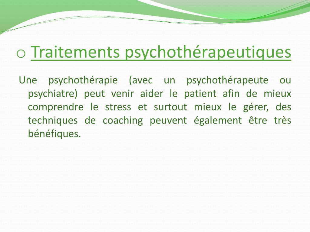 Traitements psychothérapeutiques