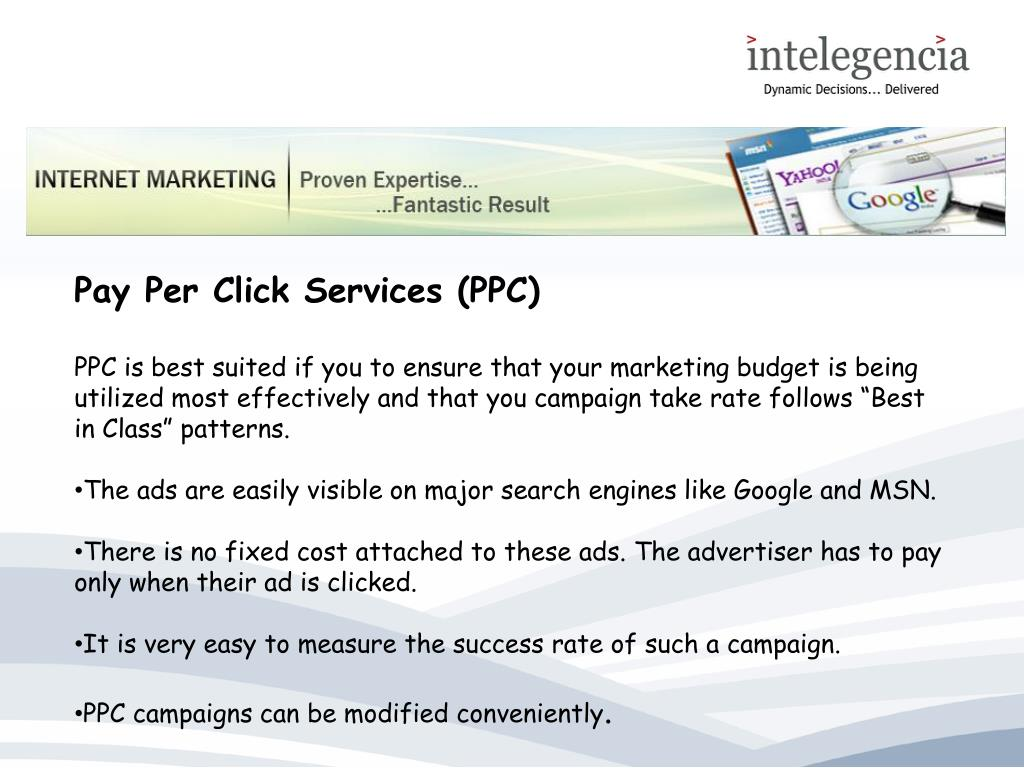 Pay Per Click Services (PPC)