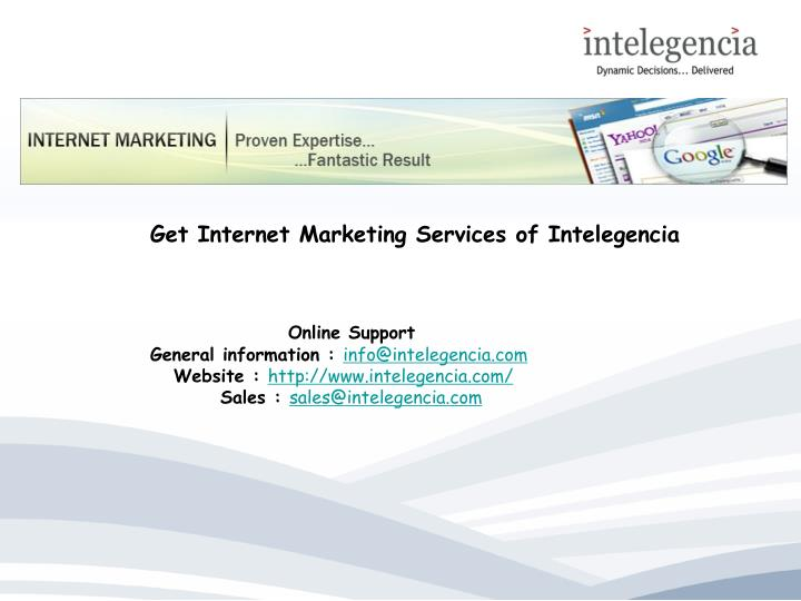 Get Internet Marketing Services of