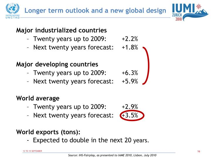 Longer term outlook and a new global design