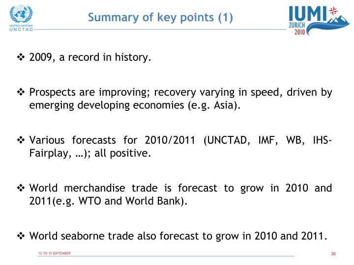 Summary of key points (1)