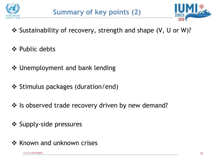 Summary of key points (2)