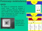 formiranje molekularnog spoja