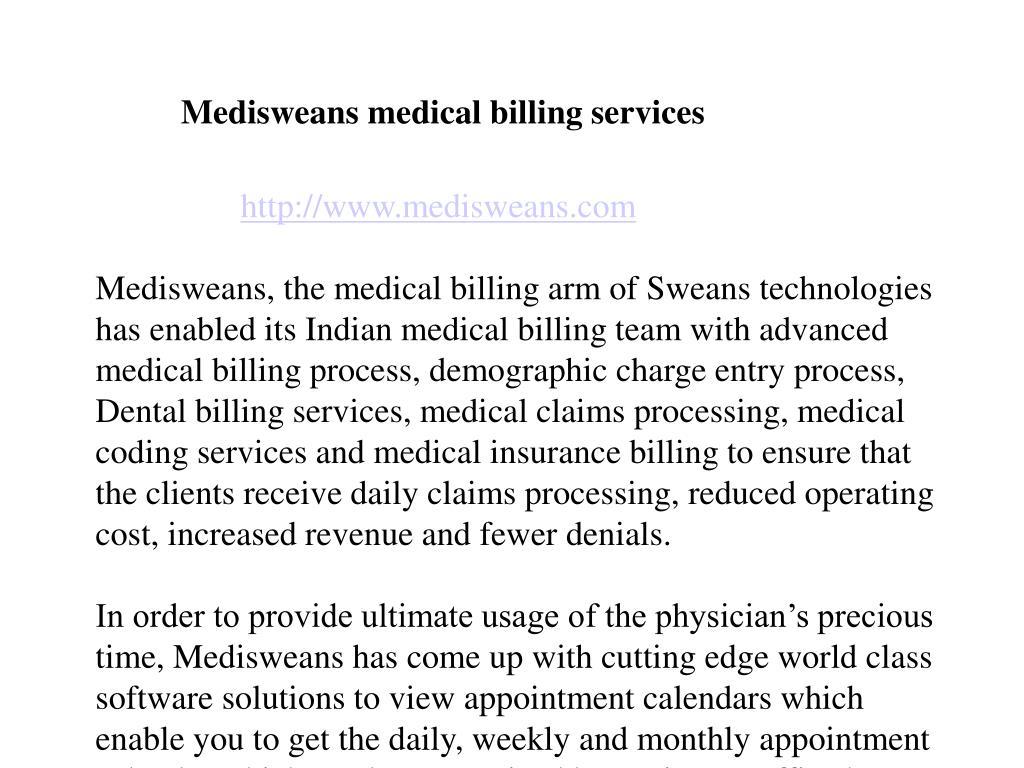 Medisweans medical billing services