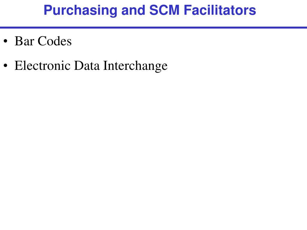 Purchasing and SCM Facilitators