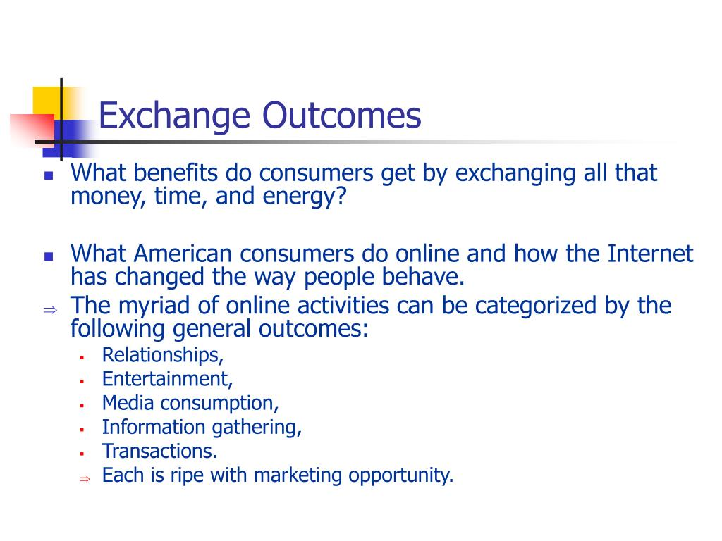 Exchange Outcomes