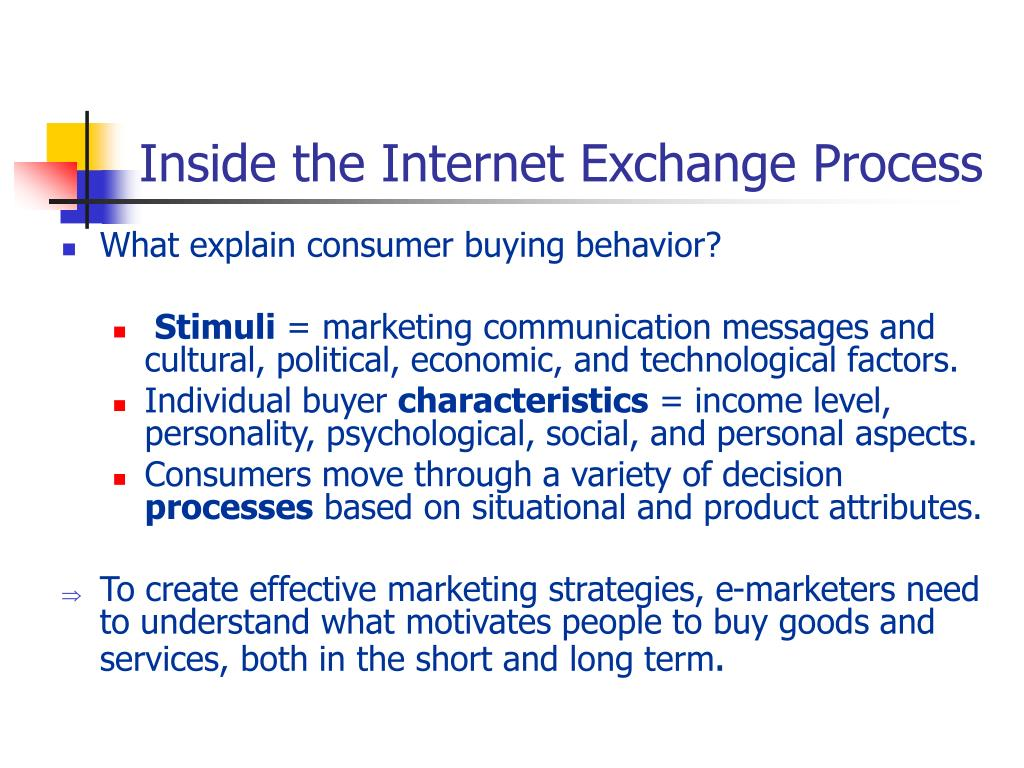 Inside the Internet Exchange Process