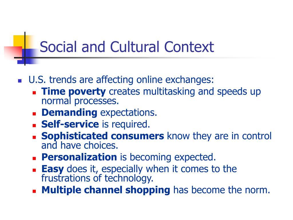 Social and Cultural Context