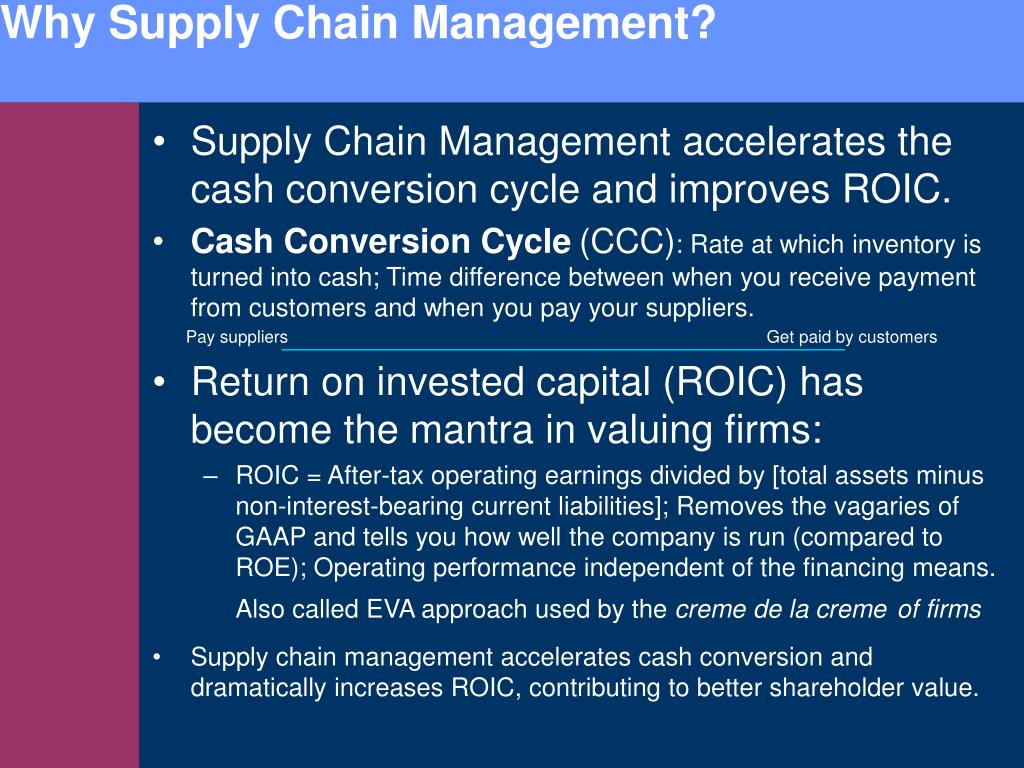Why Supply Chain Management?