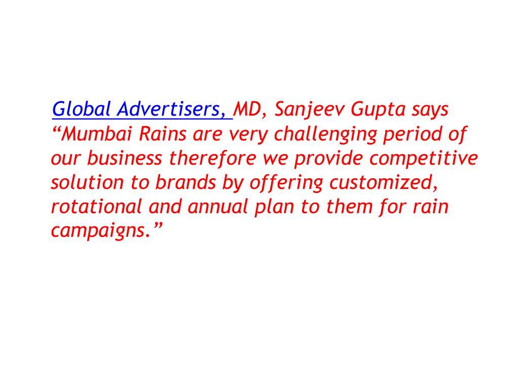 Global Advertisers,