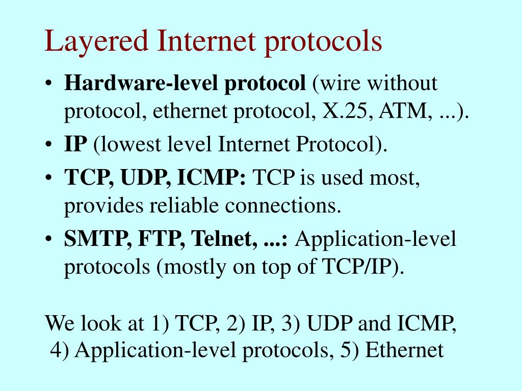 Layered Internet protocols