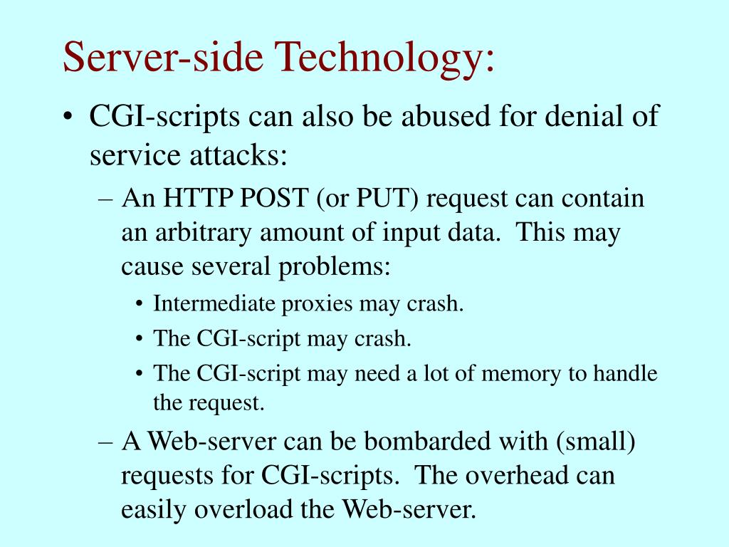 Server-side Technology: