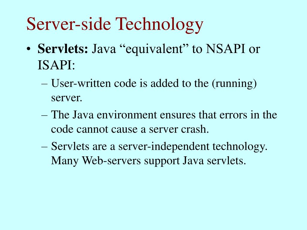 Server-side Technology