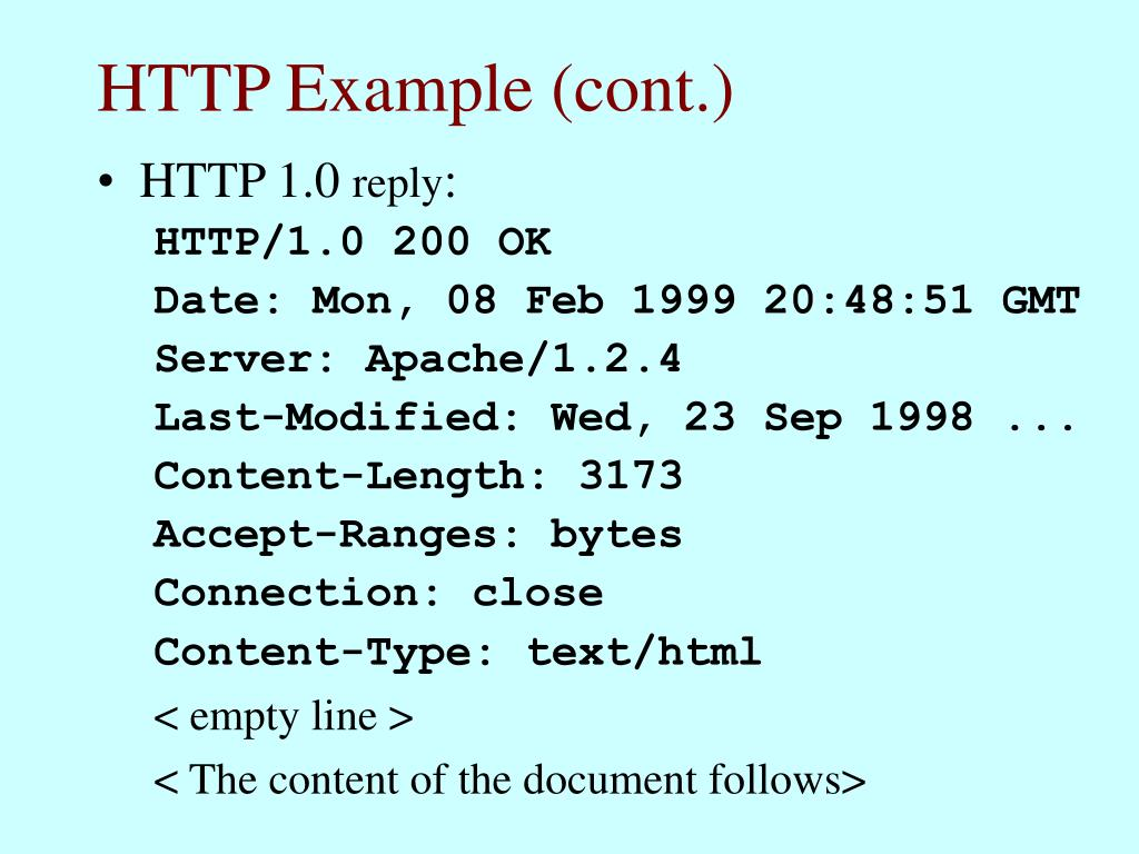 HTTP Example (cont.)