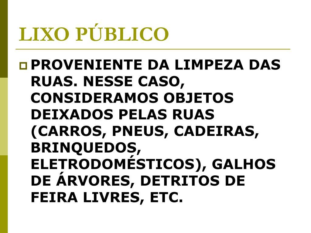 LIXO PÚBLICO