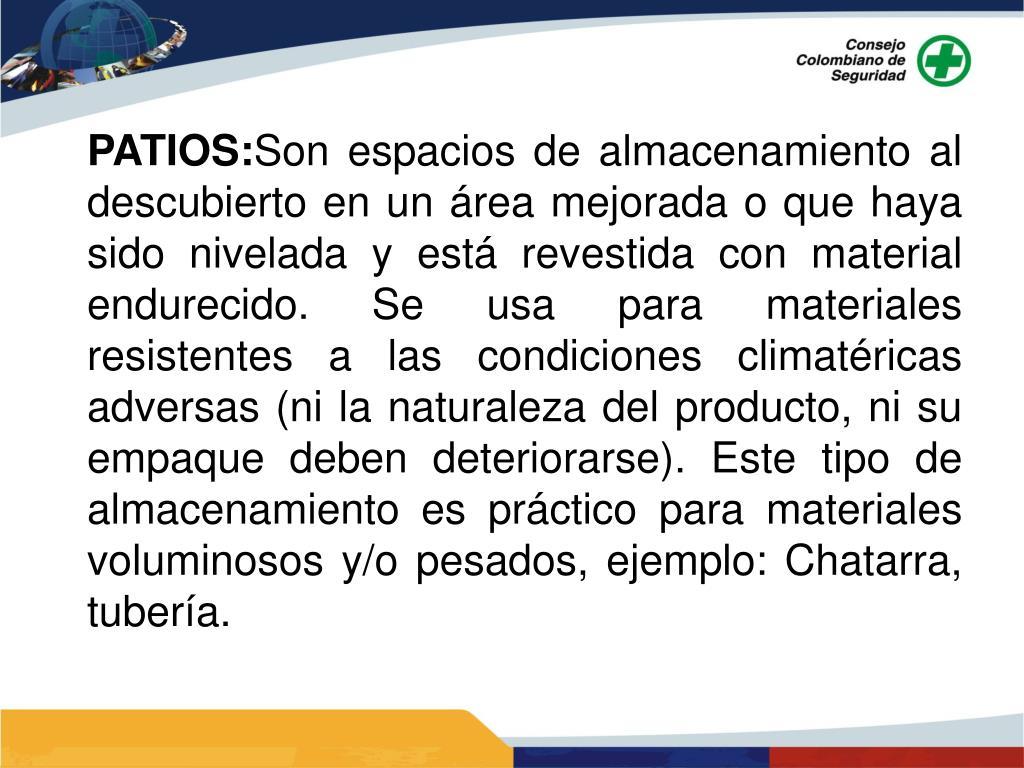 PATIOS: